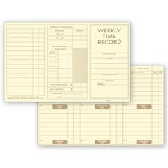Pocket Size Weekly Time Cards
