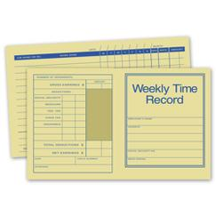 Pocket Size Weekly Time Records