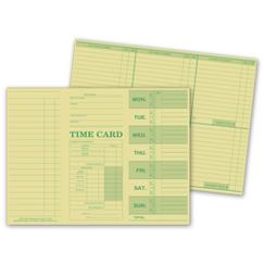 Weekly Time Card, Tag Stock, 225