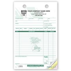Garden Supply Register Forms - Large