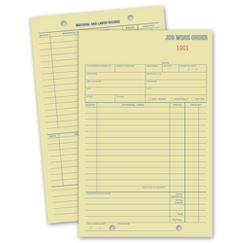 Padded Card Job Work Orders