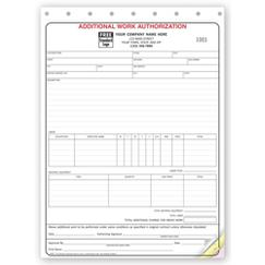 Additional Work Authorizations - Carbonless