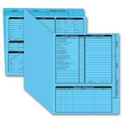 Real Estate Folder, Right Panel List, Letter Size, Blue