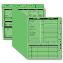 Real Estate Folder, Right Panel List, Letter Size, Green