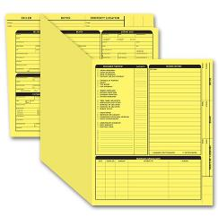 Real Estate Folder, Right Panel List, Letter Size, Yellow