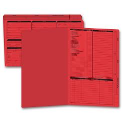 Real Estate Folder, Right Panel List, Legal Size, Red