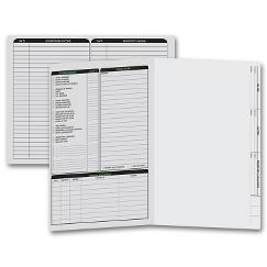 Real Estate Folder, Left Panel List, Letter Size, Gray