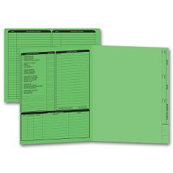 Real Estate Folder, Left Panel List, Letter Size, Green