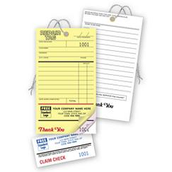 Repair Tags, Invoice w/ Detachable Claim Check