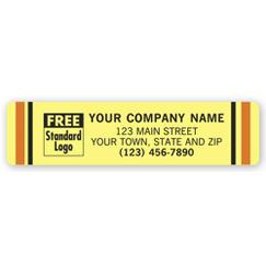 Advertising Labels, Padded, Paper, Beige, 3 1/2 x 7/8
