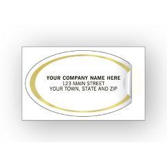 Oval Labels - Advertising Labels - Gold Foil Border