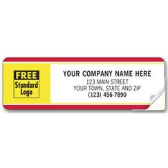 Labels with Business Design, Padded, Red/Yellow Border