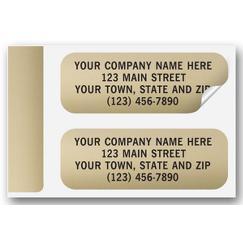 Gold Foil Paper Label