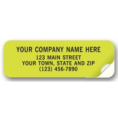 Advertising Labels, Padded, Paper, Fluorescent Green