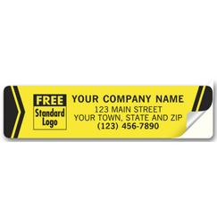 Advertising Labels, Padded, Flexible Vinyl, Yellow