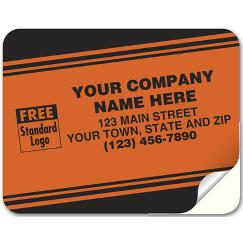 Tuff Shield Labels, Laminated Paper, Red Fluorescent