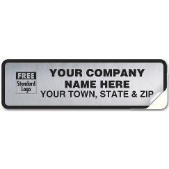 Tuff Shield  Weatherproof Vehicle Labels, Chrome Poly