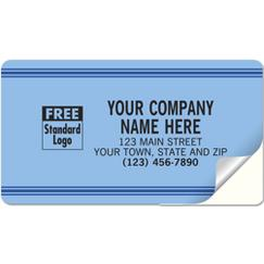 Large Service Labels, Padded,  Blue with Blue Stripes