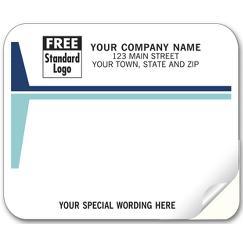 Mailing Labels, Laser and Inkjet, White w/ Blue Stripes
