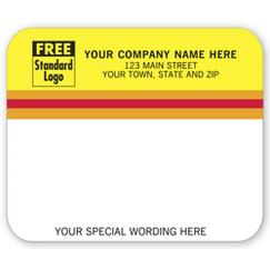 Mailing Labels, Laser and Inkjet, Yellow/White w/ Stripes