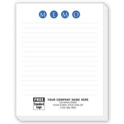 MEMO Personalized Notepads with Lines, Small