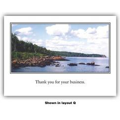 Full Color Greeting Card - Horizontal Framed Image