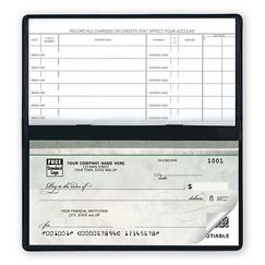 Compact Size Duplicate Checks, Green Marble Design