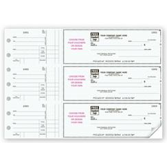 3 To a Page - Business Size Checks, With Choice of Voucher