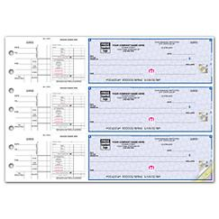 3 To a Page - Payroll and Disbursement Check Side-Tear Vouchers
