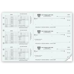3 To a Page - Payroll Check Works With Window Envelope