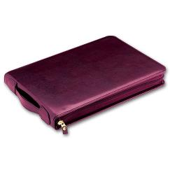 3 To a Page - Zippered Leather Portfolio