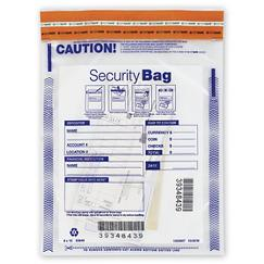 Deposit Bag - Clear Single Pocket Deposit Bag 9 x 12