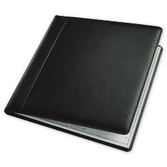 3 To a Page - Leather Cover, Executive Deskbook Checks