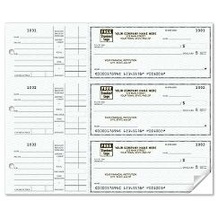3 To a Page - Compact Size Checks, with Side-Tear Vouchers