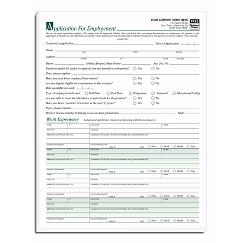 Employee Applications, Imprinted