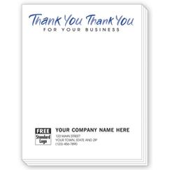 Thank You for your business, Personalized Notepads