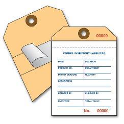 Pressure Sensitive Inventory Tag