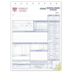Service Orders, HVAC, w/Checklist, Large Format, 6531