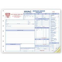 HVAC Service Orders - Side-Stub, 6534