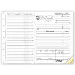 Work Orders, Side-Stub, Carbonless, Large Format