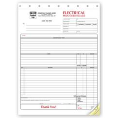 Electrical Forms - Work Orders, 6574