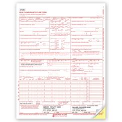 CMS-1500 Two-Part Carbonless Insurance Claim Form 0805