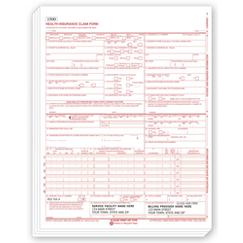 CMS-1500 Laser Pad Insurance Claim Form 0805 Imprinted