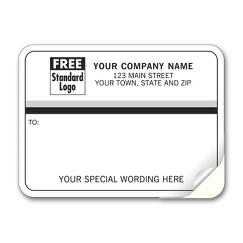 Mailing Labels, Padded, White with Black and Gray Stripes