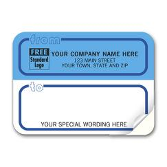 Mailing Labels, Padded, White and Blue