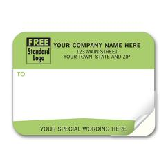 Mailing Labels, Padded, White w/ Green From Or Return