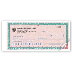 St. Croix Gift Certificates, Individual Carbonless Set