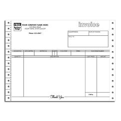 Continuous Invoice with Tear-Out Label