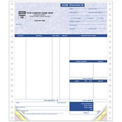 Continuous Job Invoice Parchment
