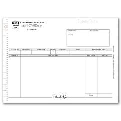 Continuous Invoice With Mailing Label